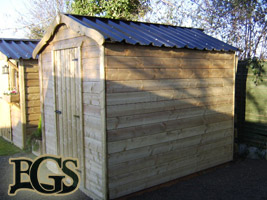 Standard garden shed, Timber garden sheds Ireland